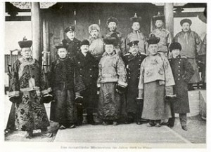 1911 Mongol nobles with russians